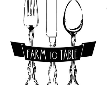 "Magnolia Design Co-Farm to Table-Reusable Adhesive Silkscreen Stencil 8.5"" X 11""-Chalk Art DIY"