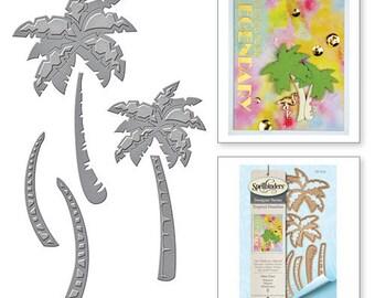 Spellbinders Spellbinders® Die D-Lites Palm Trees Etched Dies Tropical Paradise by Lene Lok S3-249