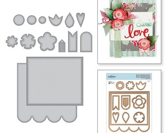 Spellbinders Dies - Sew Sweet Collection - Shapeabilities Dies - Posies and Pennies S6-143
