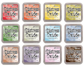"Tim Holtz Ranger Distress Oxide Ink Pads ""I Want it All Bundle #4"" includes all 12 Colors"