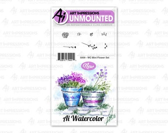 Art Impressions Unmounted Mini Flower Stamp Set 5009 - WC