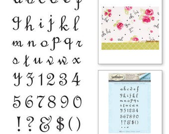 Spellbinders Alpha Lower Stamp set from the Joyous Celebrations Collection by Sharyn Sowell SBS-100