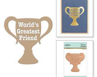 Spellbinders World's Greatest Friend Glimmer Hot Foil Plate GLP-004