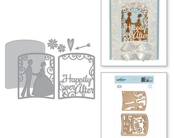 Spellbinders Shapeabilities Layered Happily Ever After Etched Dies Elegant 3D Vignettes by Becca Feeken S4-865