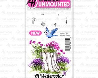 Art Impressions Unmounted Flower Set 2 Stamp Set 4868 - WC