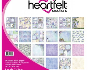 "Heartfelt Creations Lush Lilac Paper Collection 12"" x 12"" HCDP1-287"
