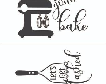 """Magnolia Design Co-Bakers-Reusable Adhesive Silkscreen Stencil 8.5"""" X 11""""-Chalk Art DIY"""