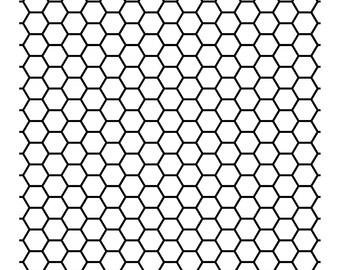 "Magnolia Design Co-Honeycomb Pattern-Reusable Adhesive Silkscreen Stencil 15"" x 15""-Chalk Art DIY"