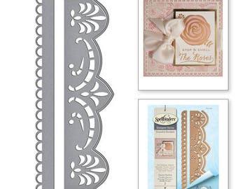 Spellbinders Graceful Brackets Card Creator Amazing Paper Grace by Becca Feeken Etched Dies S4-705