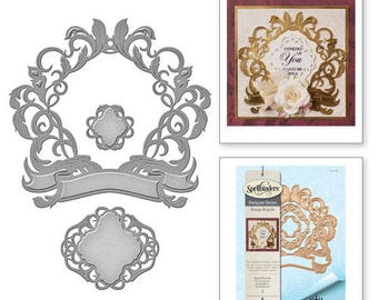 Spellbinders Nestabilities Royale Flourish Rouge Royale by Stacey Caron Etched Dies S5-278
