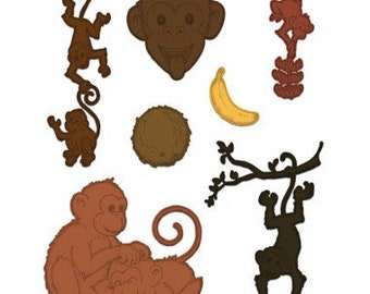 Heartfelt Creations Monkey Antics HCD1-7134