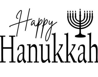 "Magnolia Design Co-Happy Hanukkah-Reusable Adhesive Silkscreen Stencil 5""X7""-Chalk Art DIY"