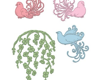 Heartfelt Creations Flowering Dogwood & Doves HCD1-7131