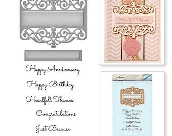 Spellbinders Amazing Paper Grace Vintage Elegance Becca Feeken Giving Occasions Stamp and Die Set SDS-054