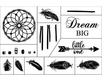 "Magnolia Design Co-Dreamcatcher-Reusable Adhesive Silkscreen Stencil 12"" x 18""-Chalk Art DIY"