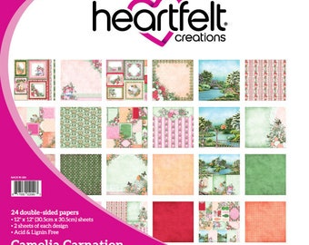 "Heartfelt Creations Camelia Carnation Collection 12"" x 12"" HCDP1-260"