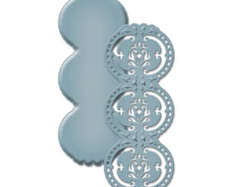 Spellbinders Shapeabilities Victoria Border Strip Etched Dies S4-440