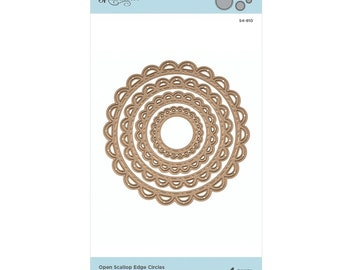 Spellbinders Nestabilities Fancy Edged Circle Etched Dies S4-903