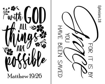 "Magnolia Design Co-All Things Are Possible-Reusable Adhesive Silkscreen Stencil 8.5"" X 11""-Chalk Art DIY"