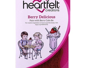 Heartfelt Creations Berry Delicious Cling Stamp Set HCPC-3733