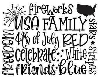 "Magnolia Design Co-Fourth of July Subway-Reusable Adhesive Silkscreen Stencil 8.5"" x 11""-Chalk Art DIY"
