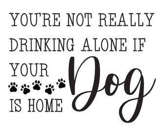 "Magnolia Design Co-Drinking Alone-Reusable Adhesive Silkscreen Stencil 8.5"" x 11""-Chalk Art DIY"