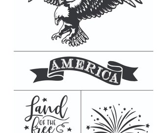 Magnolia Design Co-American Eagle-Reusable Adhesive Silkscreen Stencil-Chalk Art DIY