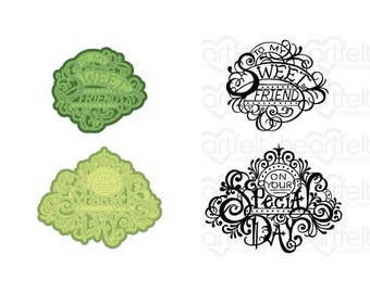Heartfelt Creations Fancy Special Day Die and Stamp Bundle HCD1-7320 & HCPC-3935