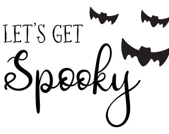 "Magnolia Design Co-Lets Get Spooky-Reusable Adhesive Silkscreen Stencil 5""X7""-Chalk Art DIY"