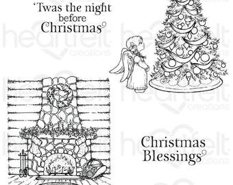 Heartfelt Creations Winter's Eve Cling Stamp Set HCPC-3796