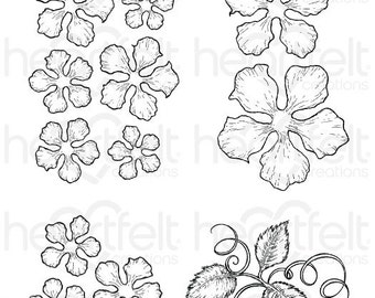 Heartfelt Creations Classic Rose Cling Stamp Set HCPC-3752