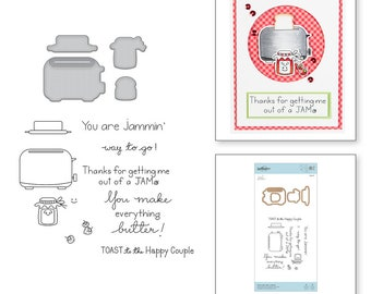 Spellbinders Toast with Jam 'n Bread Stamp and Die Set - Exclusive SDS-127