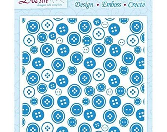 "Crafter's Companion Die'sire Embossalicious Button Box 8"" x 8"" Embossing Folder EF8-BTTBX"