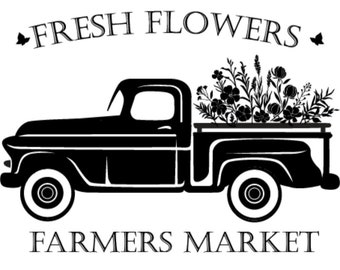 "Magnolia Design Co-Fresh Flowers-Reusable Adhesive Silkscreen Stencil 5""X7""-Chalk Art DIY"