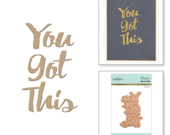 Spellbinders You Got This Glimmer Hot Foil Plate GLP-006