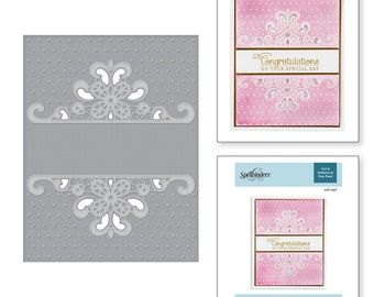 Spellbinders Dotted Lace Cut and Emboss Folder CEF-007