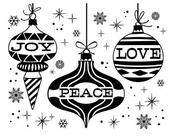 "Magnolia Design Co-Peace Joy Love-Reusable Adhesive Silkscreen Stencil 8.5"" x 11""-Chalk Art DIY"