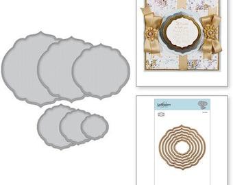 Spellbinders Nestabilities Curvy Labels Etched Dies Becca Feeken S4-930