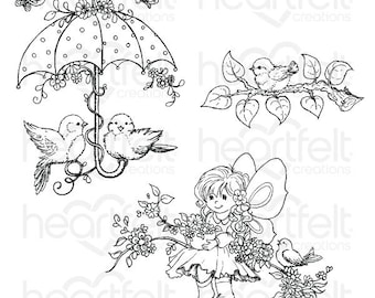 Heartfelt Creations Songs of Spring Cling Stamp Set HCPC-3810
