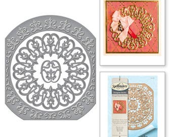 Spellbinders Nestabilities Fleur de Circle Etched Dies from the Rouge Royale Deux Collection by Stacey Caron S5-276