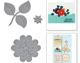 Spellbinders Die D-Lites Flowers n Stem Etched Dies S1-028