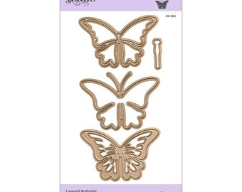 Spellbinders Shapeabilities Layered Butterfly Etched Dies - Exclusive S5-360