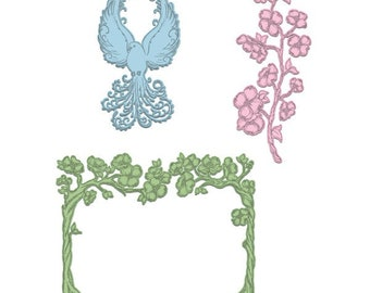 Heartfelt Creations Flowering Dogwood Branches HCD1-7130