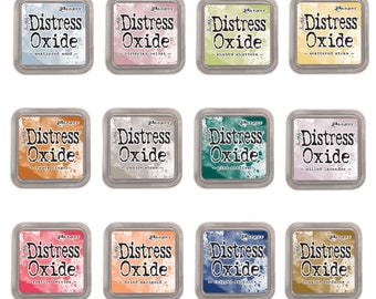 "Tim Holtz Ranger Distress Oxide Ink Pads 2018 Winter ""Pre-Order"" ""I Want it All Bundle #5"" includes all 12 Colors"