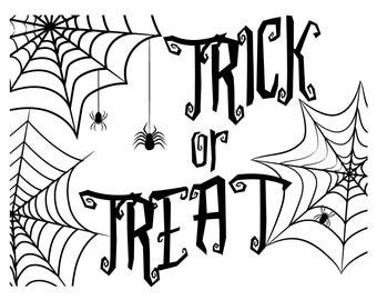 "Magnolia Design Co-Trick or Treat-Reusable Adhesive Silkscreen Stencil 8.5"" X 11""-Chalk Art DIY"
