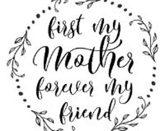 "Magnolia Design Co-First My Mother-Reusable Adhesive Silkscreen Stencil 8.5"" x 11""-Chalk Art DIY"