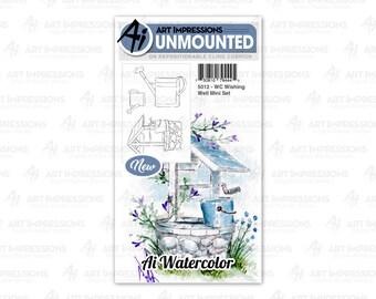 Art Impressions Unmounted Wishing Well Mini Stamp Set 5012 - WC