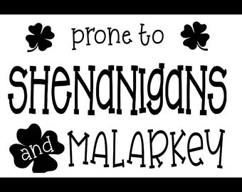 "Magnolia Design Co-Shenanigans-Reusable Adhesive Silkscreen Stencil 8.5"" X 11""-Chalk Art DIY"