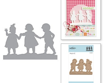 Spellbinders Shapabiilties First Friends Etched Dies Little Loves by Sharon Sowel S2-295
