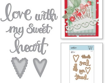 Spellbinders Shapeabilities Sew Sweet Sentiments Etched Dies by Tammy Tutterow S4-913